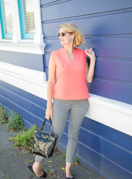 Gingham and Coral
