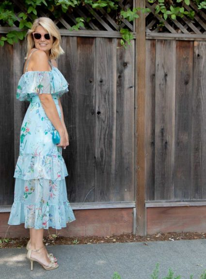 Blissful in Blue: Few Moda Ruffle Dress