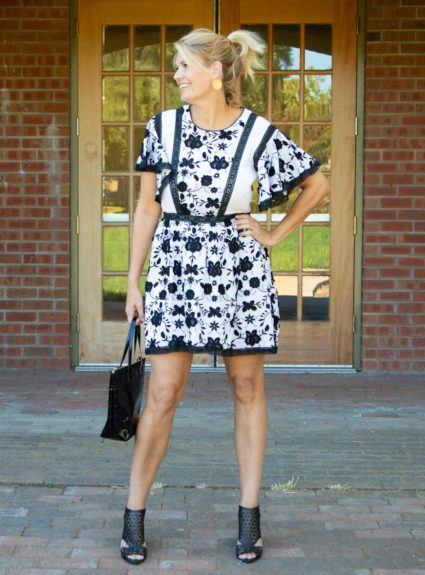 Warm Autumn Days: Black and White Joie Dress